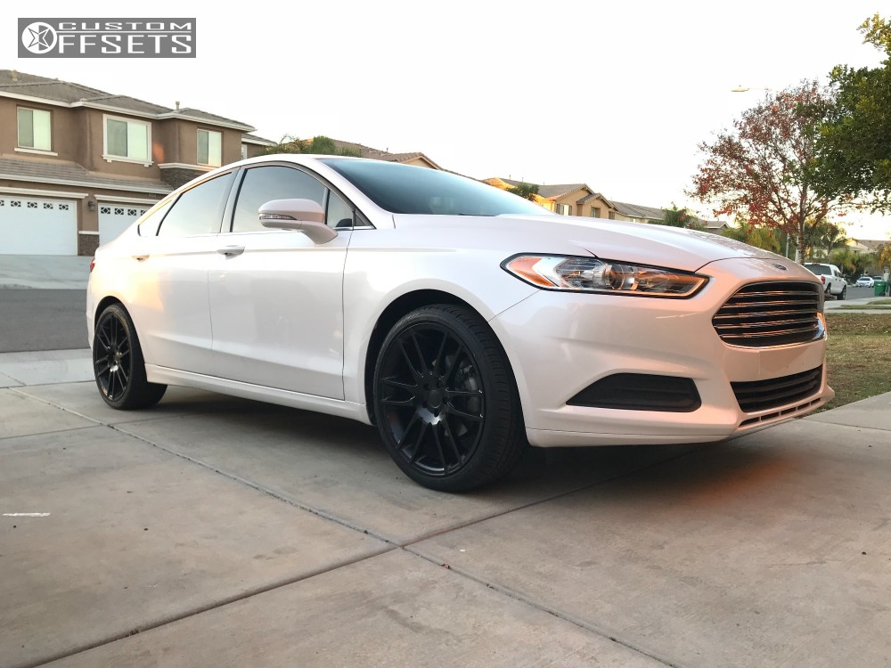 2014 Ford Fusion Kmc Km696 Stock Stock Custom Offsets