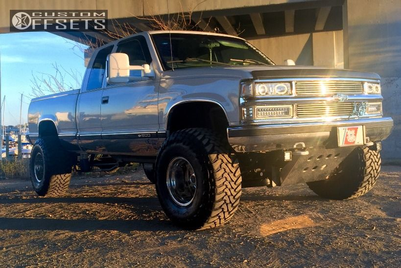 5 1998 K1500 Chevrolet Suspension Lift 6 Weld Racing T53 Polished Super Aggressive 3 5