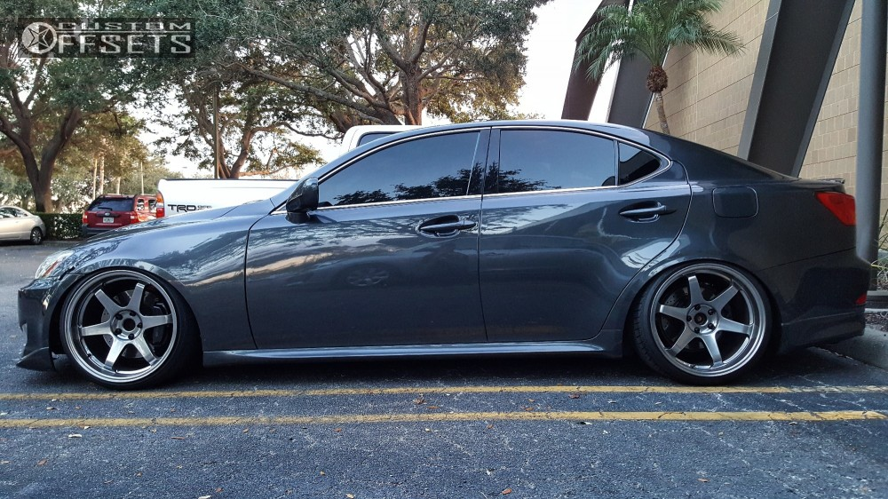 Wheel Offset 2007 Lexus Is350 Flush Coilovers