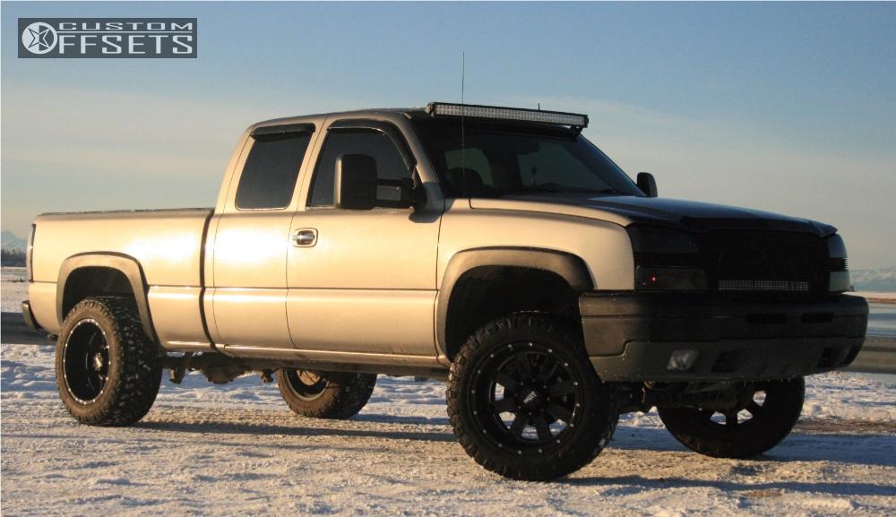 1 2003 Silverado 1500 Chevrolet Rough Country Suspension Lift 4in Moto Metal Mo962 Black