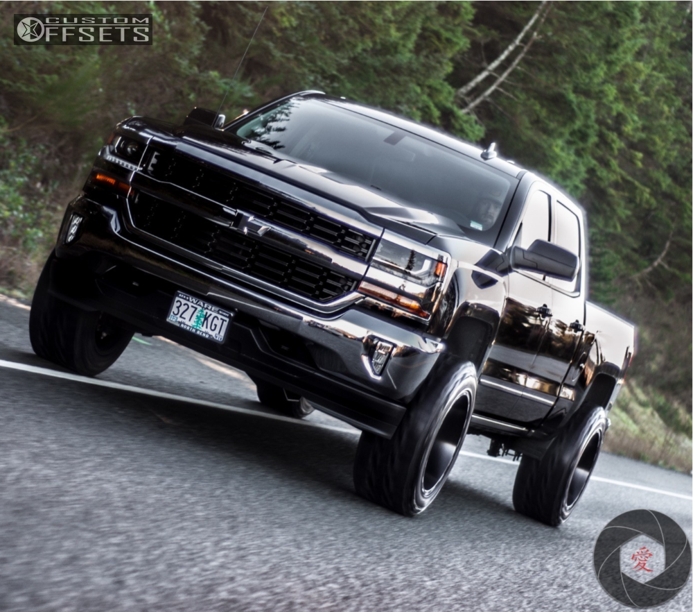 8 2018 Silverado 1500 Chevrolet Fabtech Suspension Lift 4in Hostile Stryker Black