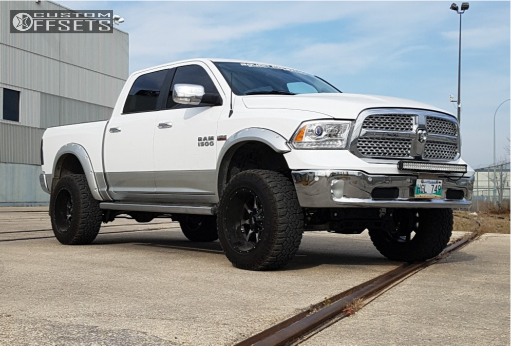 1 2014 1500 Ram Rough Country Suspension Lift 6in Moto Metal Mo970 Machined Black