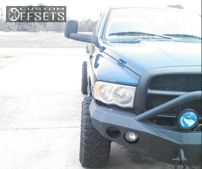 4 2004 Ram Pickup 2500 Dodge Leveling Kit Fuel Hostage Black Aggressive 1 Outside Fender