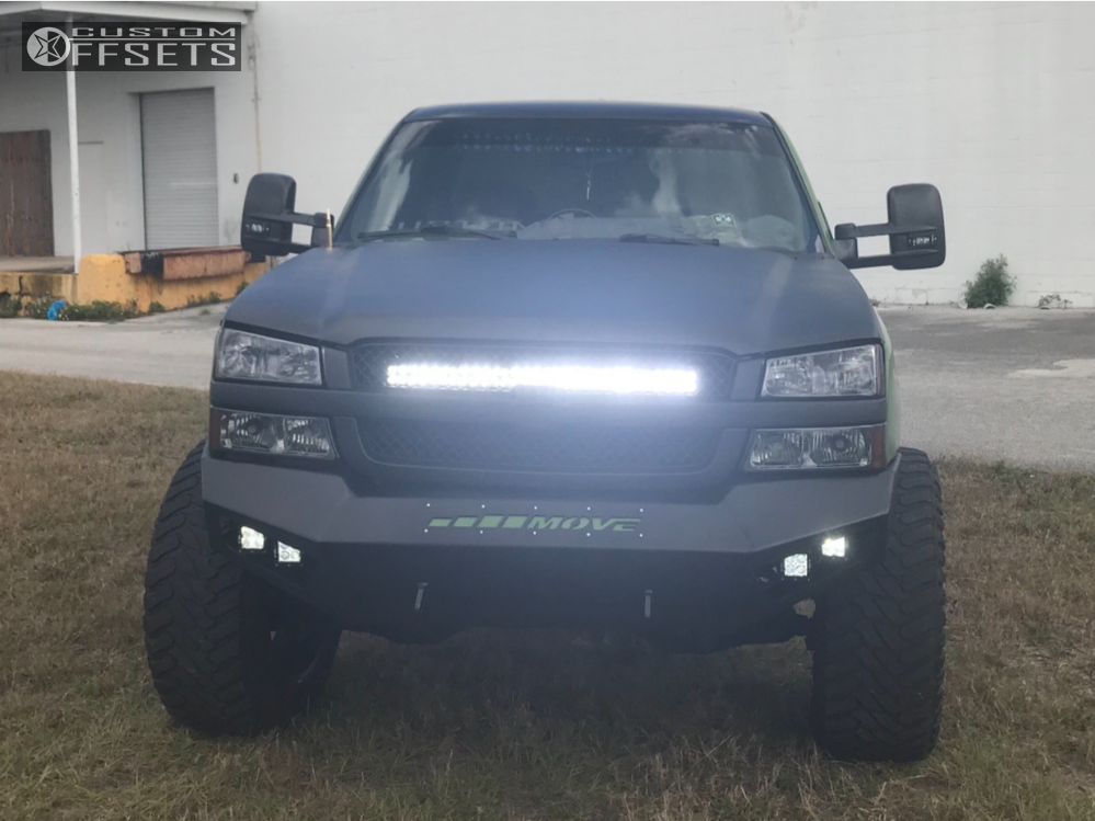 2 2003 Silverado 1500 Chevrolet Rough Country Suspension Lift 6in Xtreme Mudder Xm 310 Black