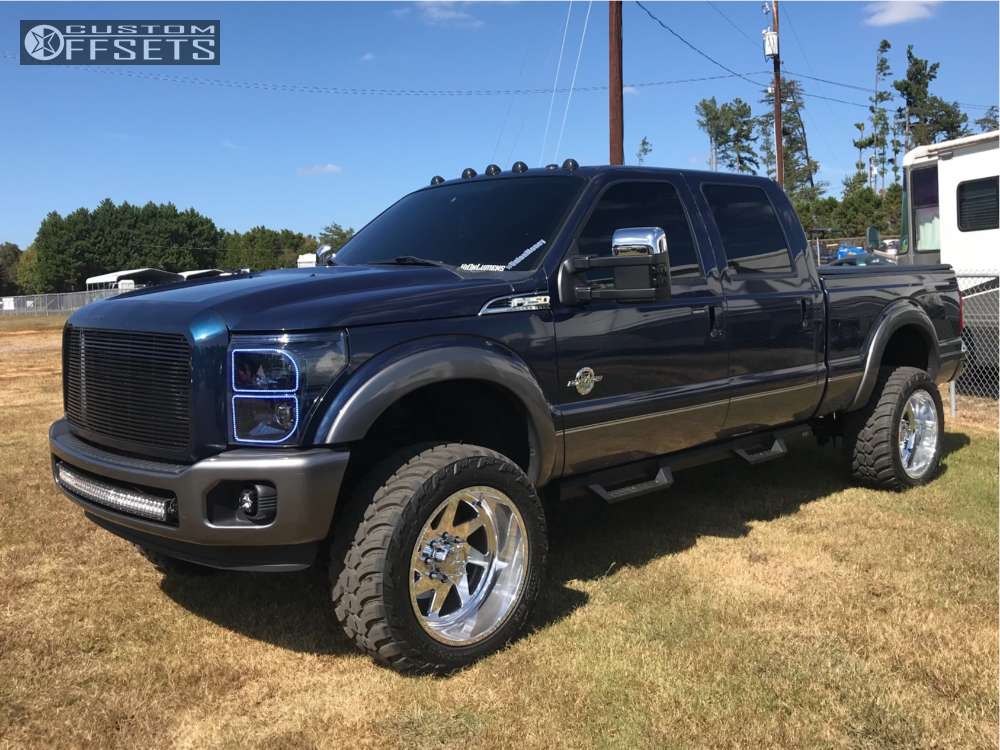 1 2013 F 250 Super Duty Ford Readylift Suspension Lift 35in American Force Jade Ss Polished