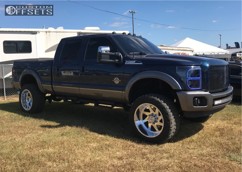 16 2013 F 250 Super Duty Ford Readylift Suspension Lift 35in American Force Jade Ss Polished