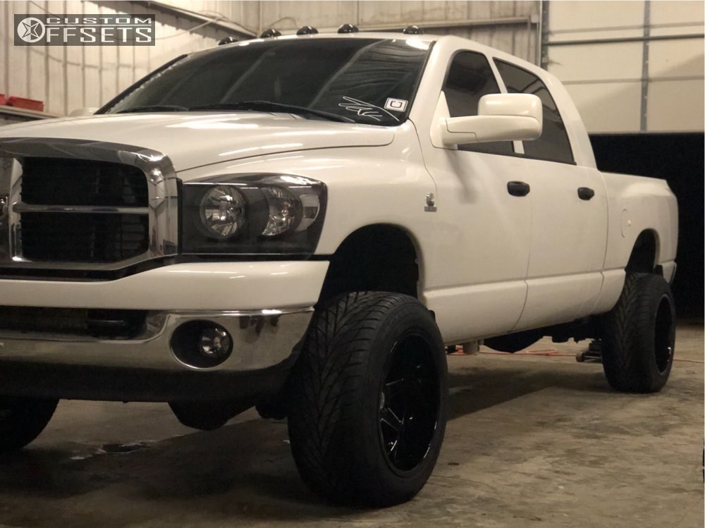 1 2008 Ram 2500 Dodge Rough Country Leveling Kit Toxic Widow Machined Black