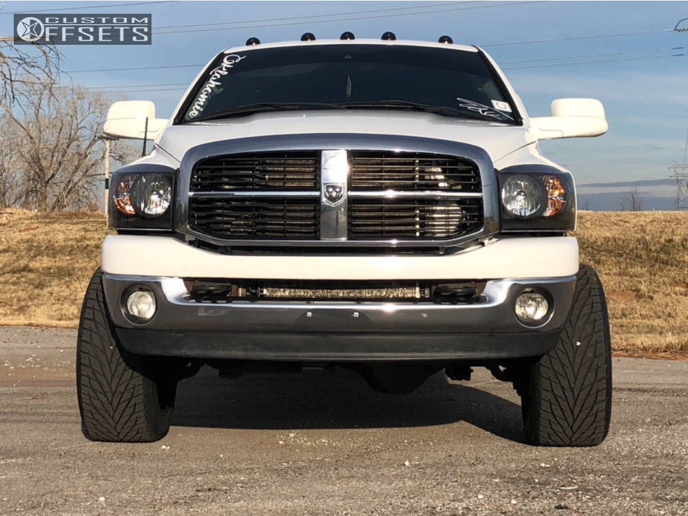 2 2008 Ram 2500 Dodge Rough Country Leveling Kit Toxic Widow Machined Black
