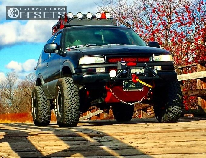 1 2003 Blazer Chevrolet Suspension Lift 3 Alloy Ion 101 Black Hella Stance 5