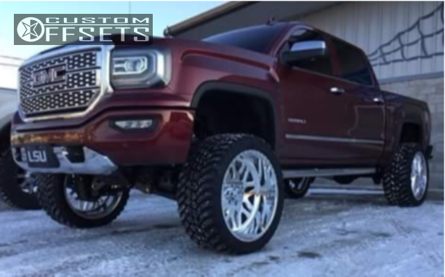 4 2017 Sierra 1500 Gmc Bds Suspension Lift 6in American Force Trax Ss Polished