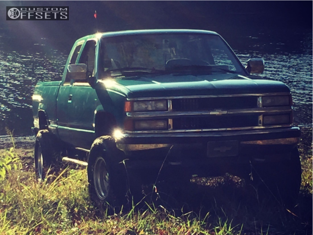 1 1994 K1500 Chevrolet Rancho Leveling Kit Body Lift Eagle Alloy Series 027 Silver