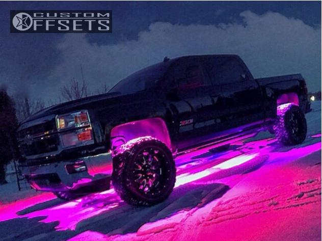 1 2014 Silverado 1500 Chevrolet Rough Country Suspension Lift 3in American Eagle 12 Black