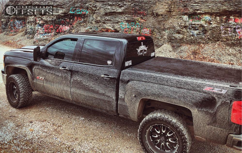13 2014 Silverado 1500 Chevrolet Rough Country Suspension Lift 3in American Eagle 12 Black