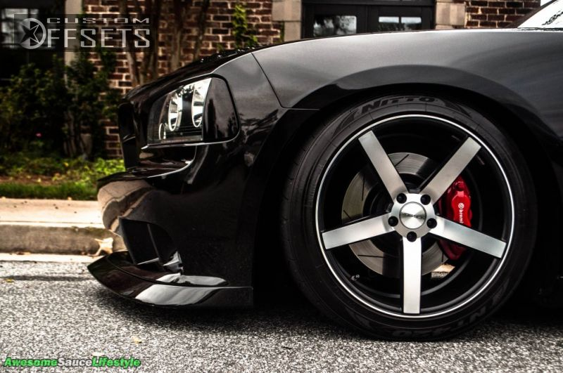 Wheel Offset 2007 Dodge Charger Nearly Flush Dropped 1 3