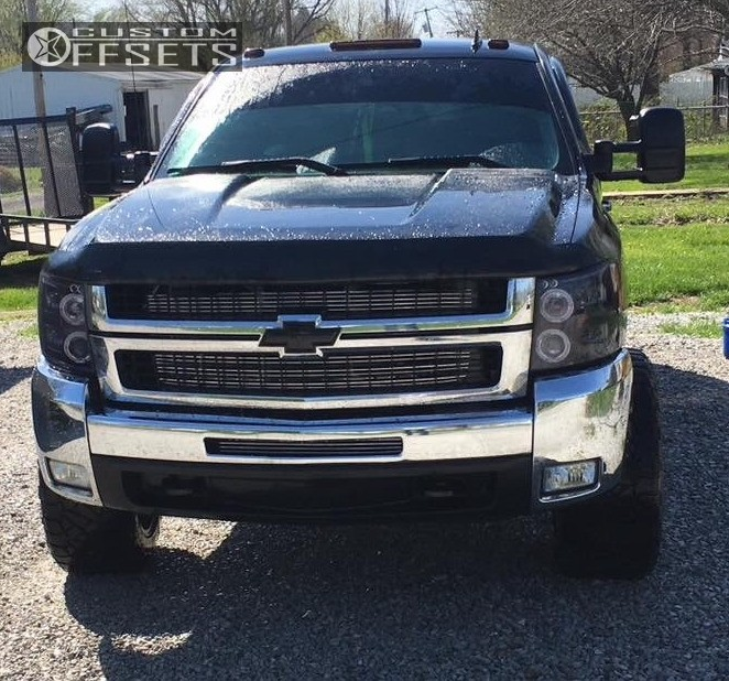 2 2008 Silverado 2500 Hd Chevrolet Rough Country Leveling Kit Xd Riot Chrome