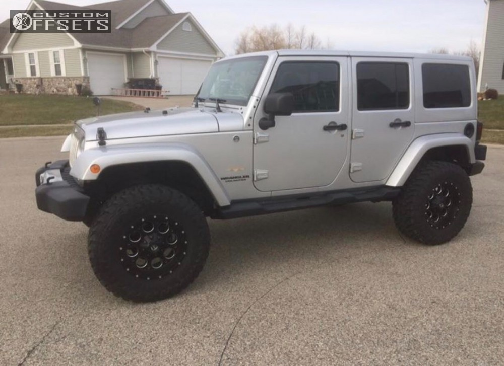 4 2012 Wrangler Jeep Mix Of Brands Suspension Lift 35in Fuel Revolver Machined Accents