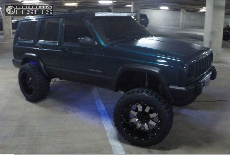 5 1998 Cherokee Jeep Suspension Lift 8 Gear Alloy Big Block Machined Accents Super Aggressive 3 5