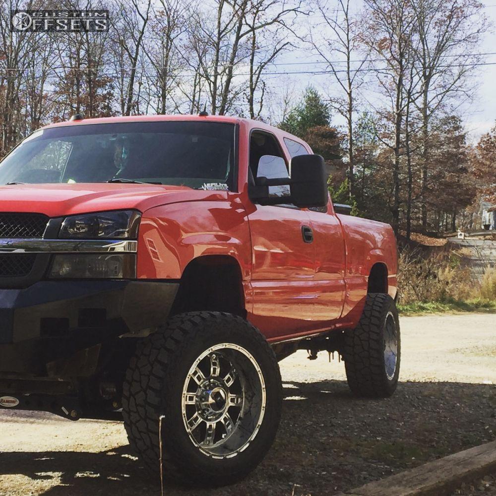All Chevy chevy 2500hd wheels : 2004 Chevrolet Silverado 2500 Hd Xd Riot Rancho Suspension Lift 4in