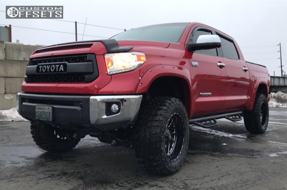 1 2014 Tundra Toyota Fabtech Suspension Lift 6in Fuel Triton Black