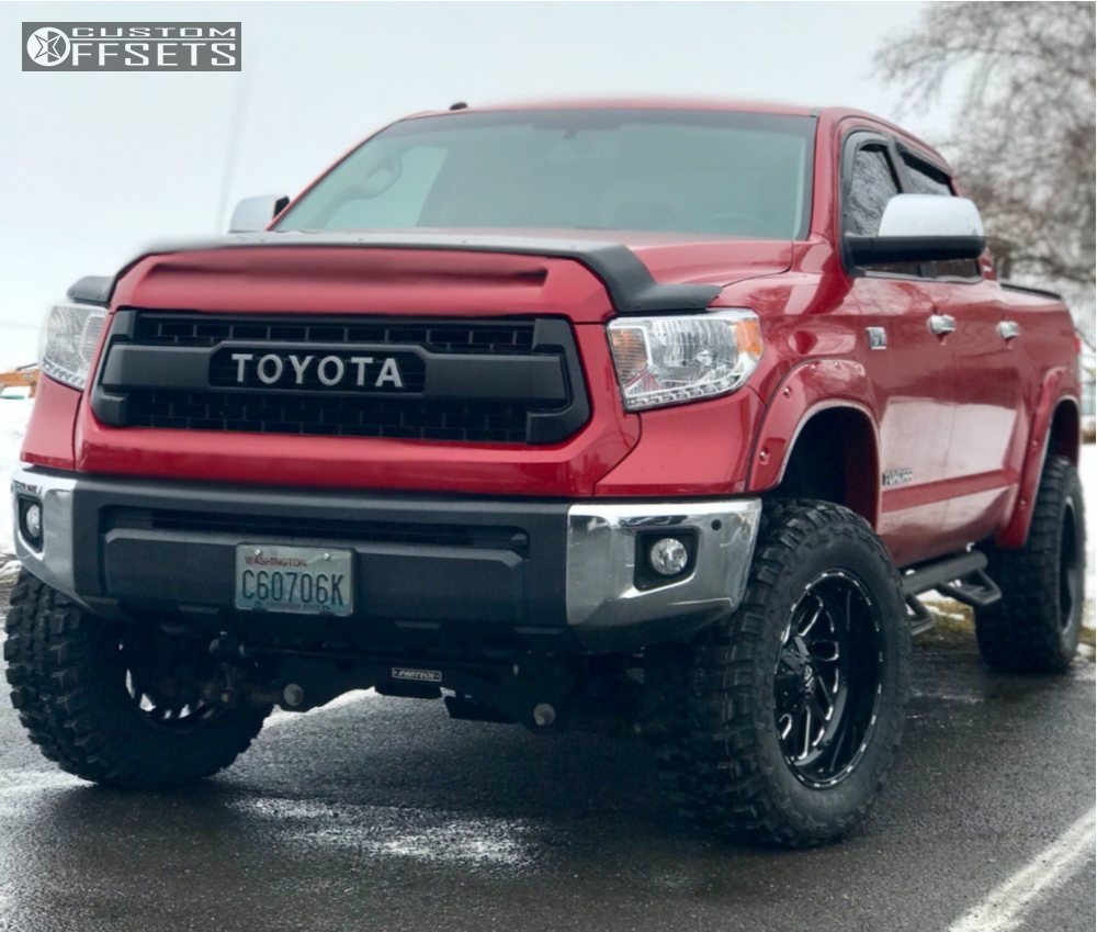 11 2014 Tundra Toyota Fabtech Suspension Lift 6in Fuel Triton Black