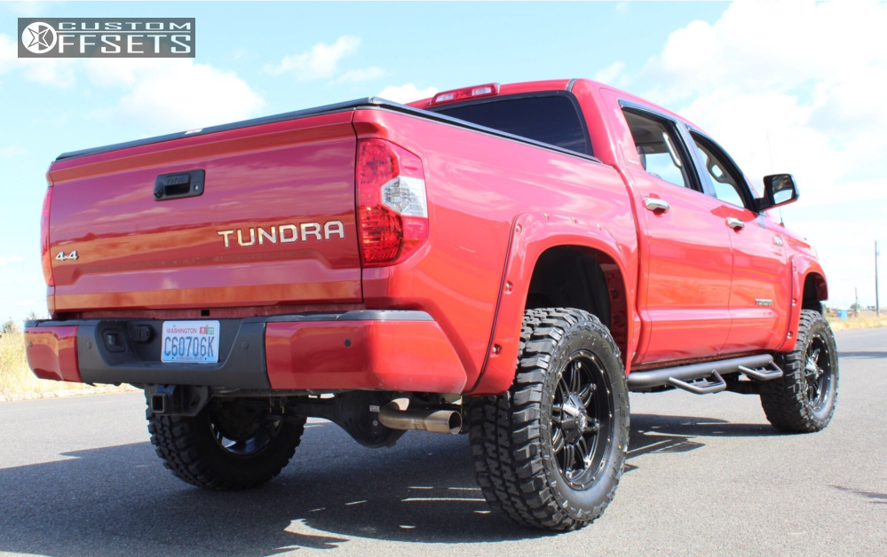 3 2014 Tundra Toyota Fabtech Suspension Lift 6in Fuel Triton Black