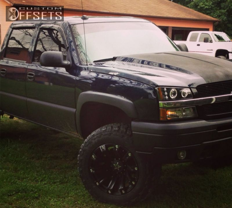 1 2005 Silverado 1500 Chevrolet Suspension Lift 6 Tis 534b Black Aggressive 1 Outside Fender