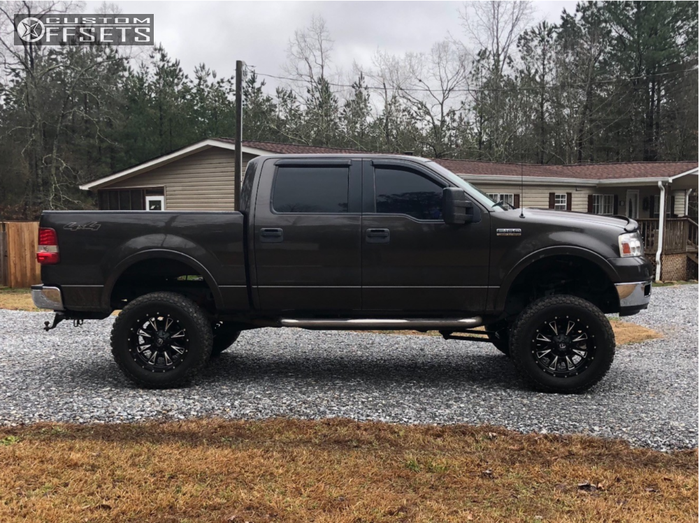 1 2005 F 150 Ford Rough Country Suspension Lift 7in Body 3in Fuel Throttle Machined Black