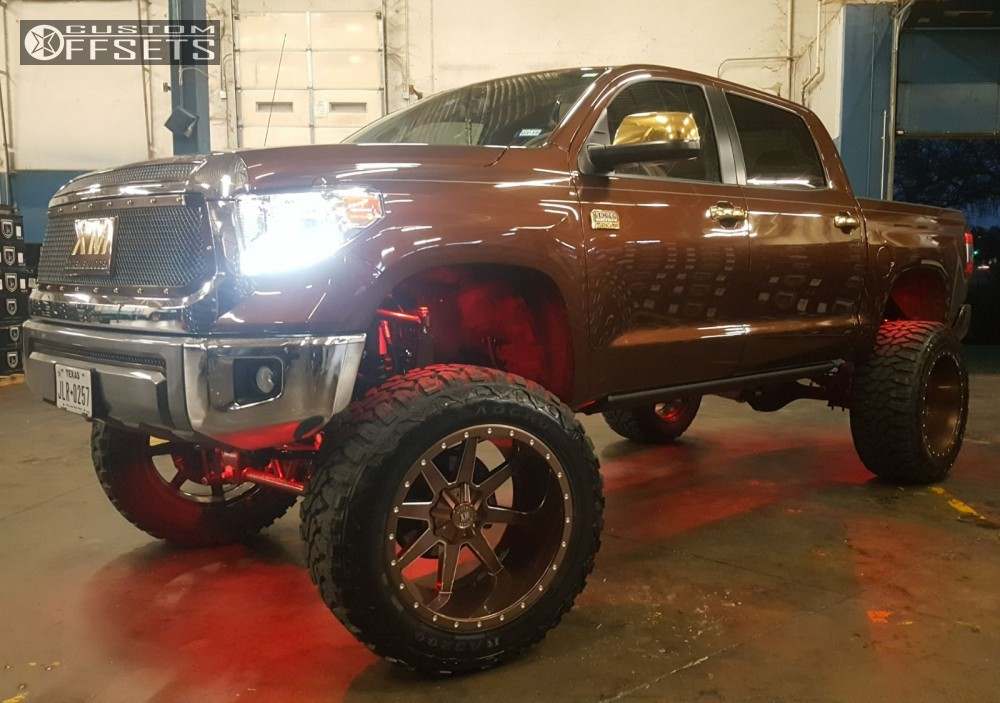 1 2017 Tundra Toyota Bulletproof Suspension Lift 12in Xtreme Mudder Xm 304 Custom
