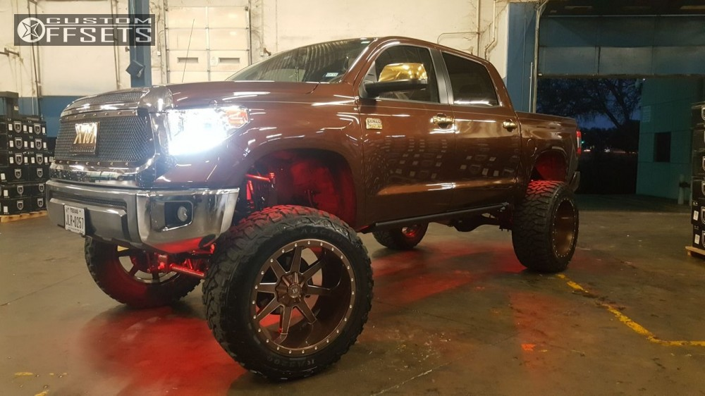 2 2017 Tundra Toyota Bulletproof Suspension Lift 12in Xtreme Mudder Xm 304 Custom