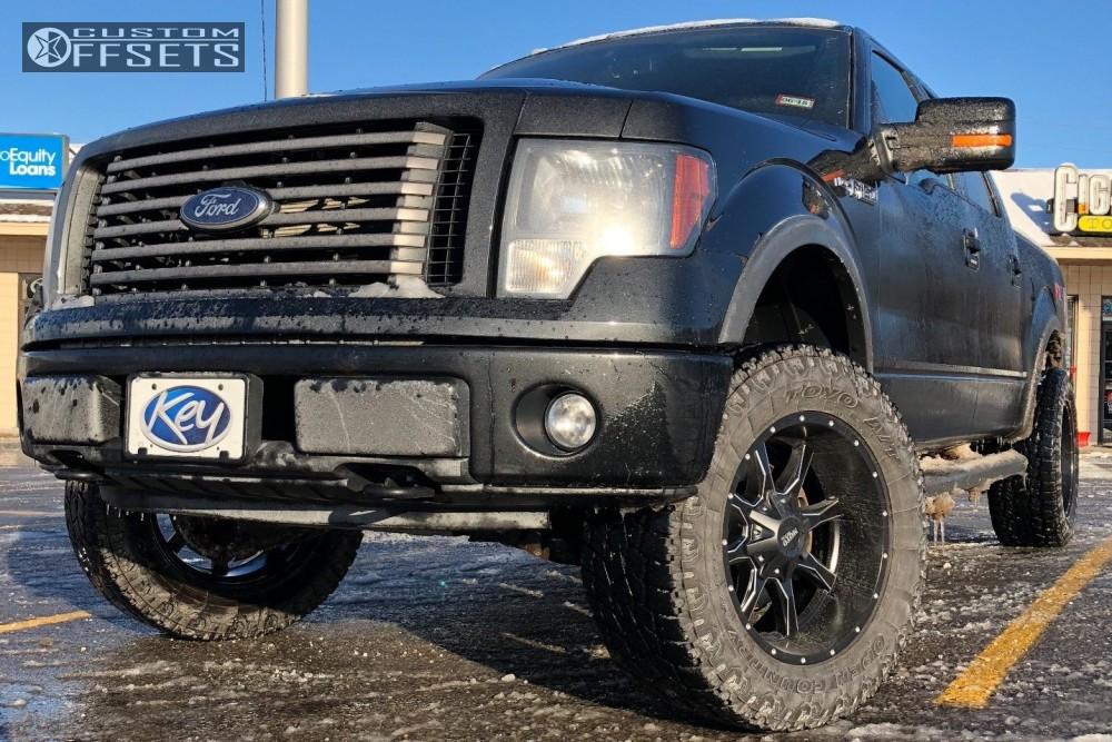 1 2014 F 150 Ford Motofab Body Lift 3in Moto Metal Mo200 Black
