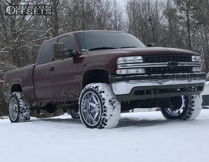 1 2002 Silverado 1500 Chevrolet Rough Country Suspension Lift 6in Hostile Alpha Chrome
