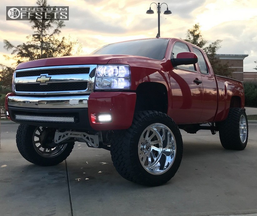 1 2009 Silverado 1500 Chevrolet Mcgaughys Suspension Lift 9in Fuel Forged Ff16 Polished
