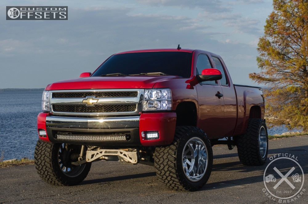 3 2009 Silverado 1500 Chevrolet Mcgaughys Suspension Lift 9in Fuel Forged Ff16 Polished