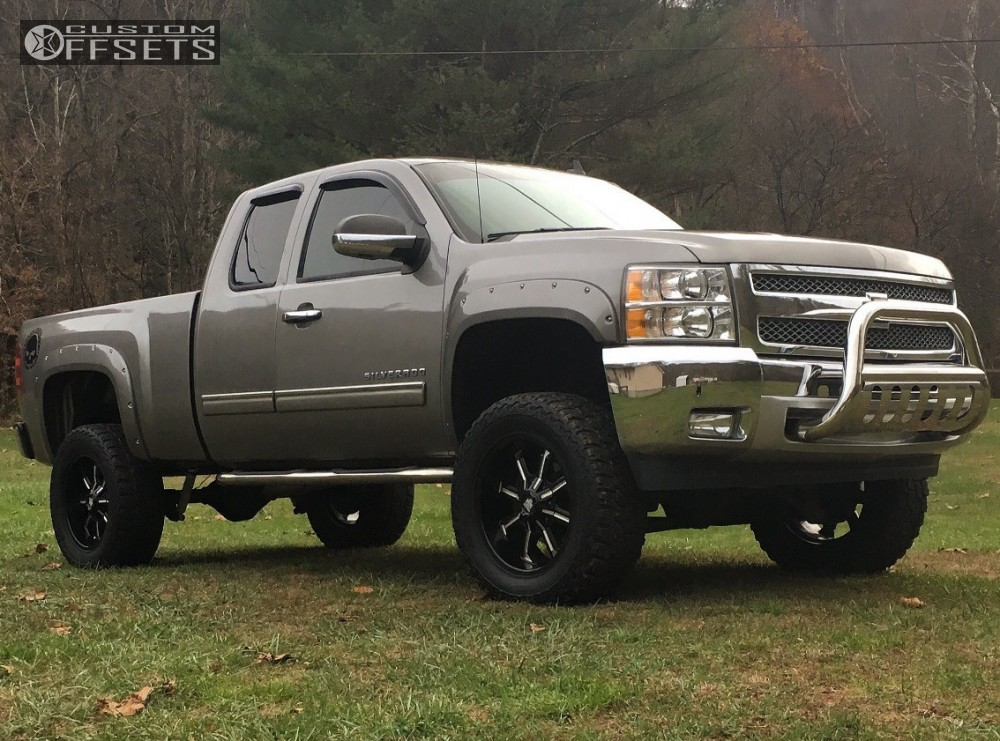 1 2013 Silverado 1500 Chevrolet Fab Tech Suspension Lift 6in Mayhem Beast Black