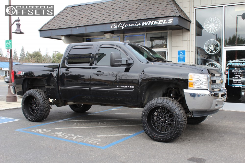 1 2013 Silverado 1500 Chevrolet Rough Country Suspension Lift 75in Vision Rocker Black