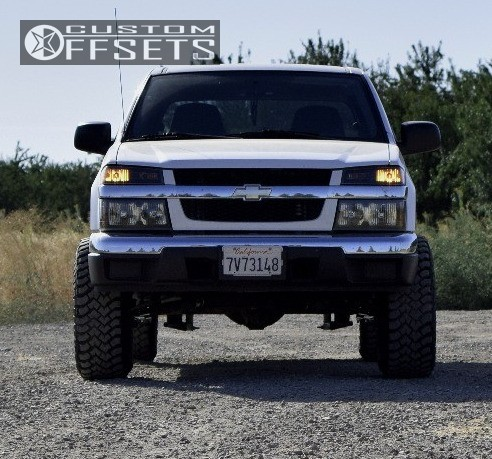 2 2005 Colorado Chevrolet Fabtech Suspension Lift 3in Pro Comp 52 Black
