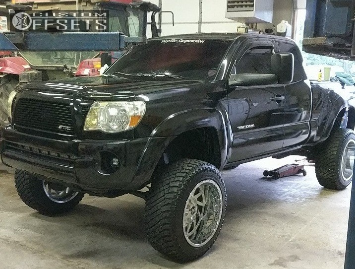 1 2008 Tacoma Toyota Maxtrac Suspension Lift 6in Off Road Monster M12 Chrome