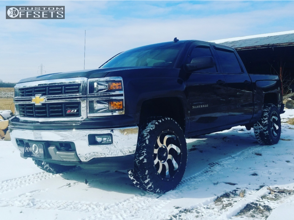 1 2014 Silverado 1500 Chevrolet Rough Country Suspension Lift 35in Red Dirt Road Titan Machined Accents