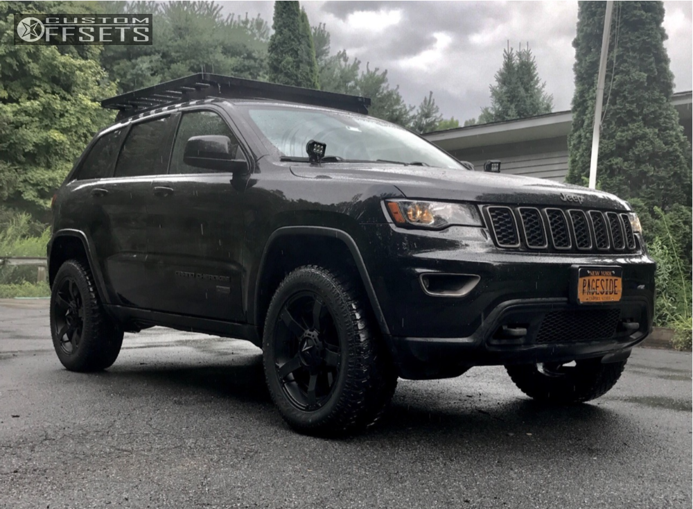 1 2016 Grand Cherokee Jeep Dobinsons Suspension Lift 3in Kmc Rockstar Black