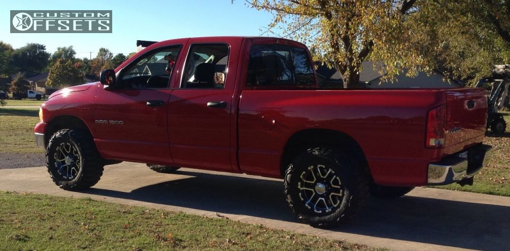 1 2004 Ram 1500 Dodge Leveling Kit Alloy Ion 178 Machined Accents Aggressive 1 Outside Fender