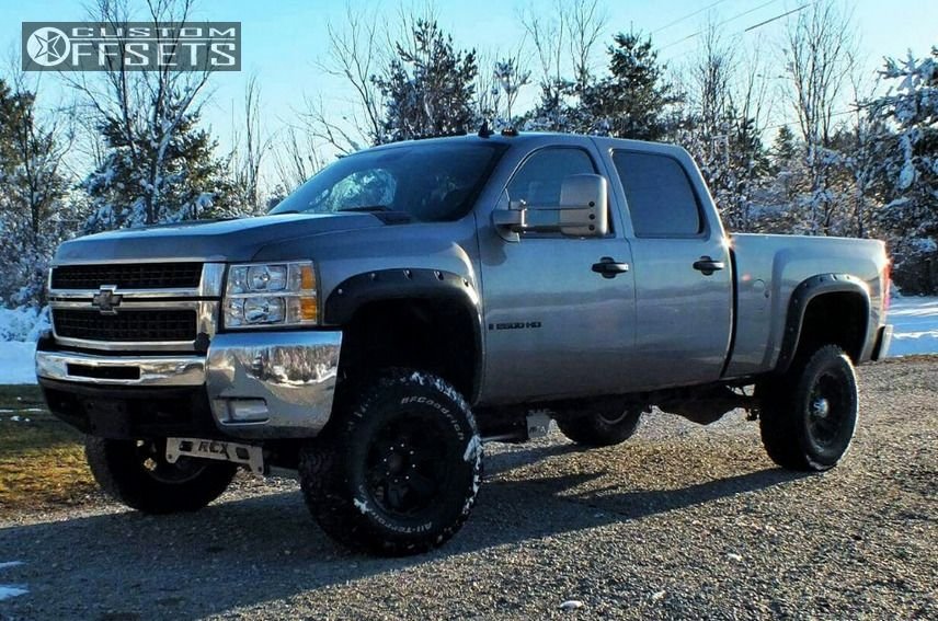 1 2007 Silverado 2500 Hd Chevrolet Suspension Lift 6 Xd Revolver Black Flush