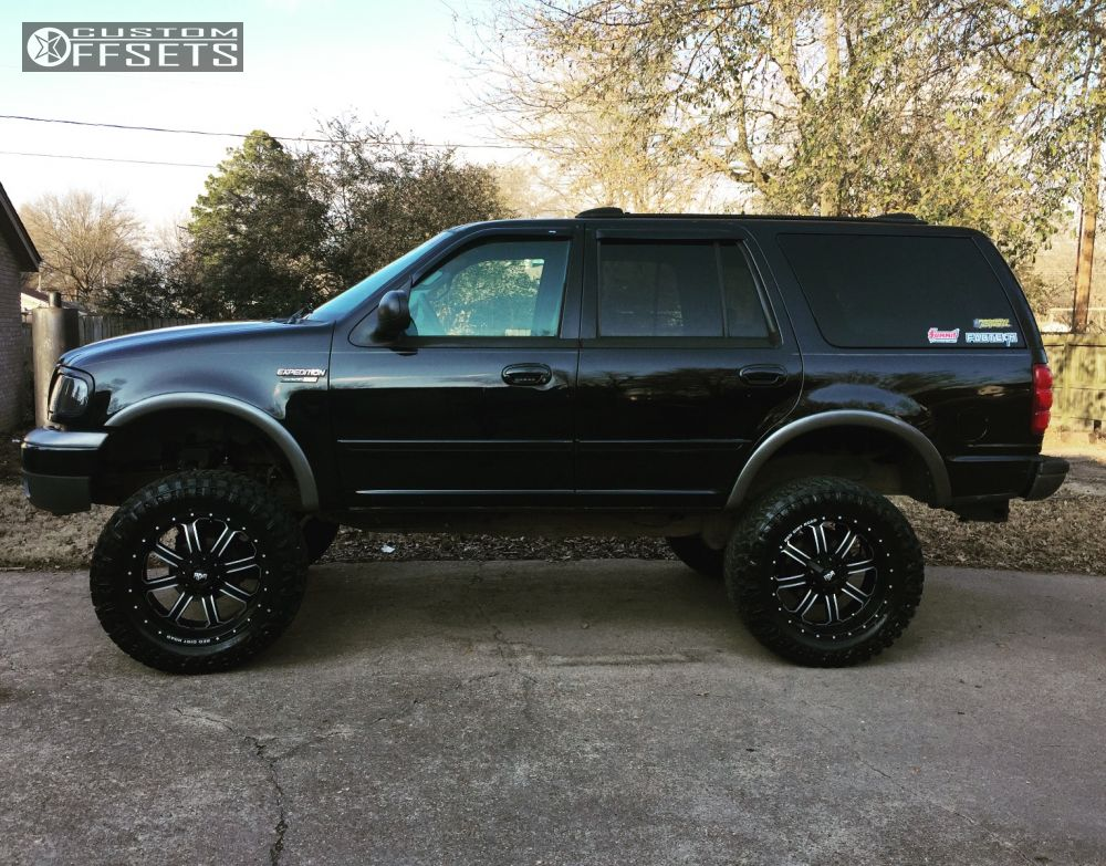 Lifted Ford Expedition >> Wheel Offset 2000 Ford Expedition Aggressive 1 Outside
