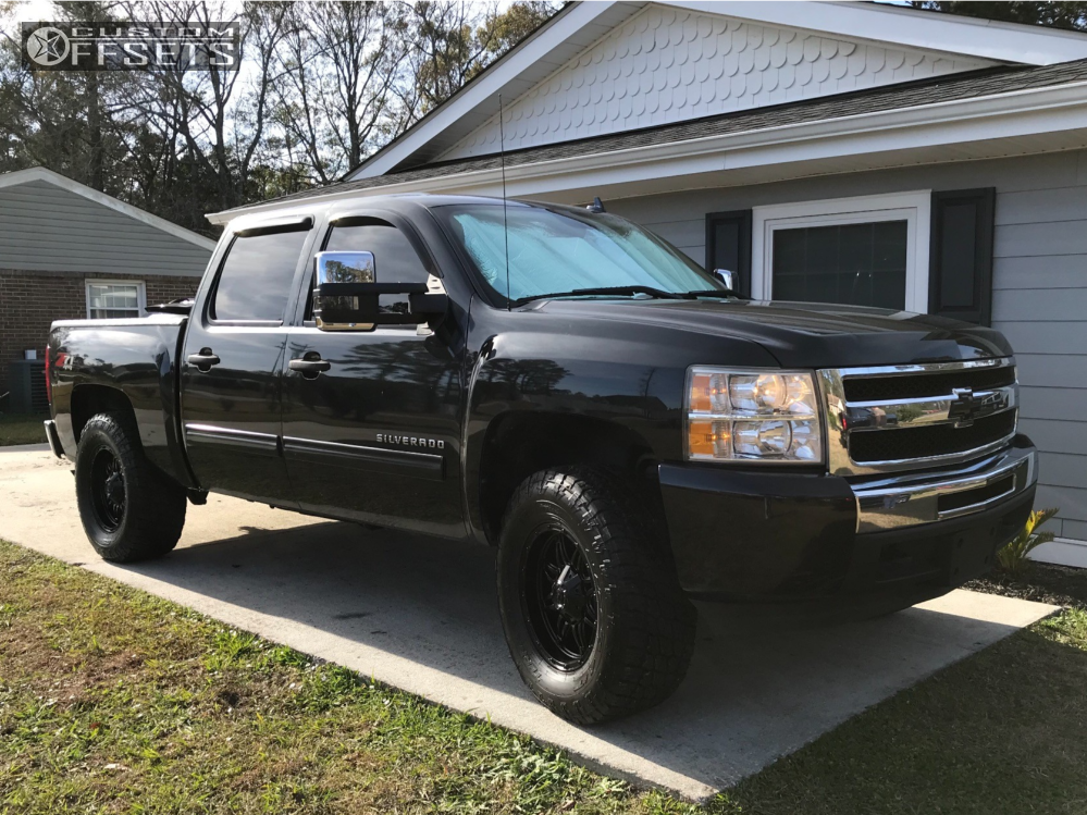 1 2009 Silverado 1500 Chevrolet Rough Country Leveling Kit Fuel Hostage Ii Black