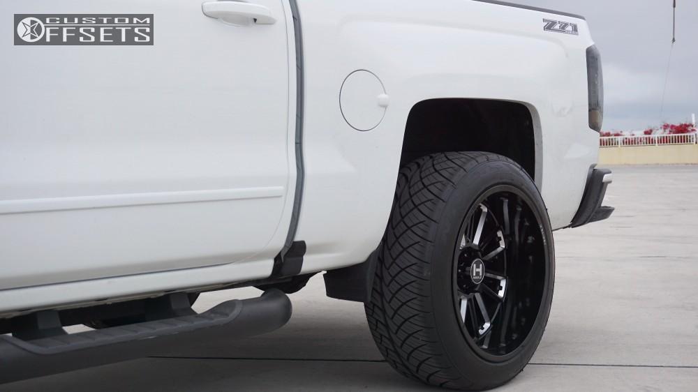 10 2017 Silverado 1500 Chevrolet Motofab Leveling Kit Hostile Predator Black