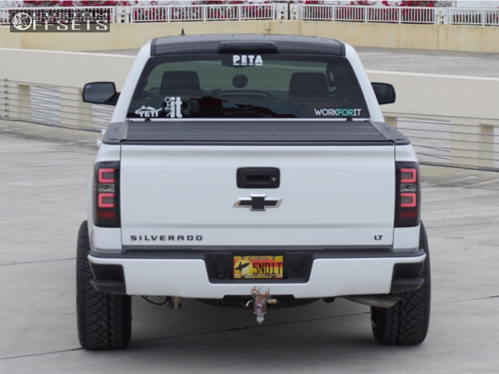 3 2017 Silverado 1500 Chevrolet Motofab Leveling Kit Hostile Predator Black