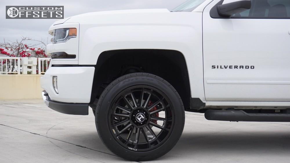 5 2017 Silverado 1500 Chevrolet Motofab Leveling Kit Hostile Predator Black