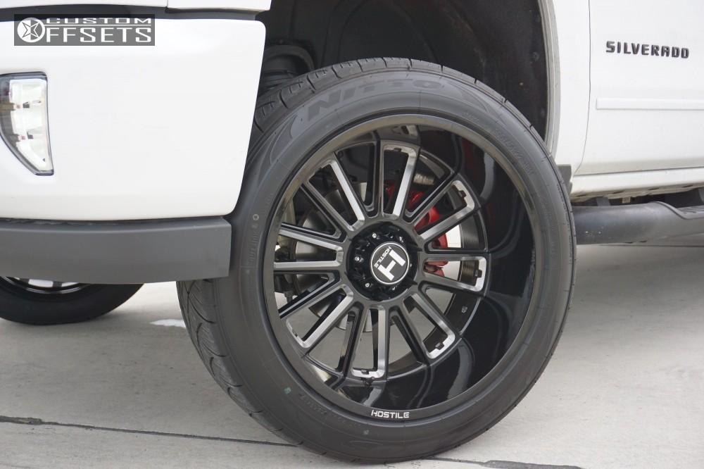 8 2017 Silverado 1500 Chevrolet Motofab Leveling Kit Hostile Predator Black