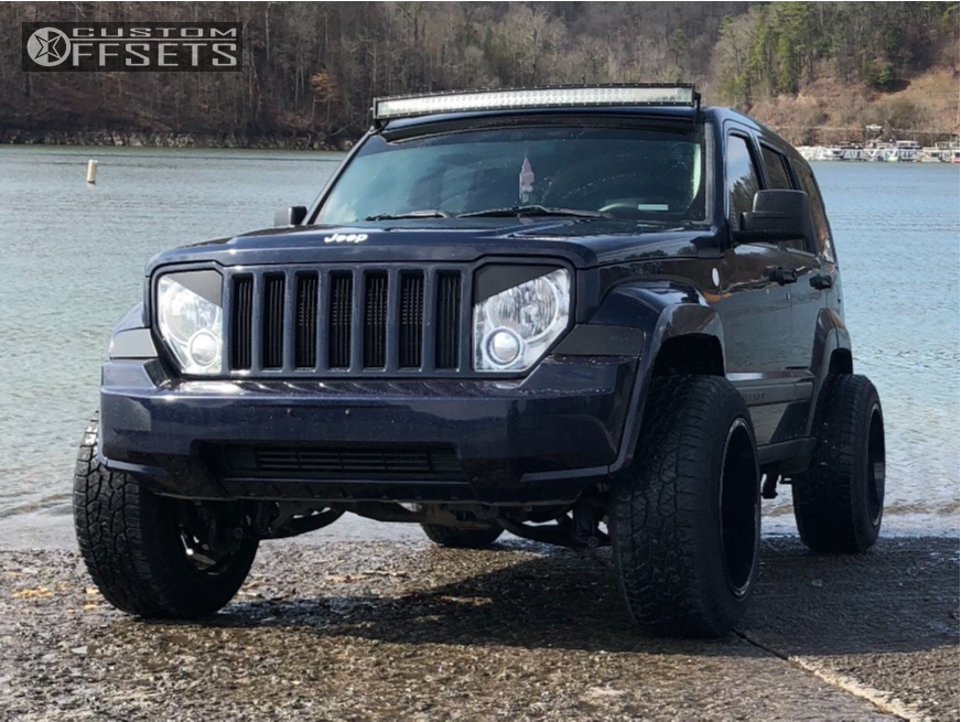 Hankook Truck Tires >> 2012 Jeep Liberty Fuel Triton Rough Country Suspension Lift 3in