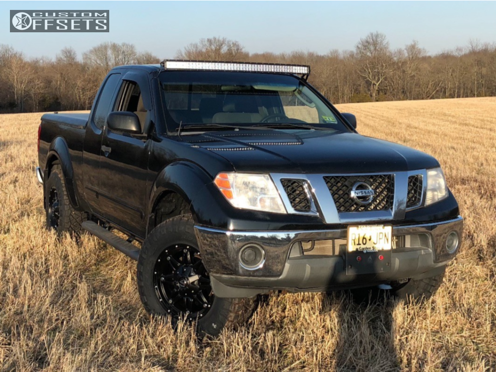 1 2009 Frontier Nissan Stock Leveling Kit Fuel Hostage Black