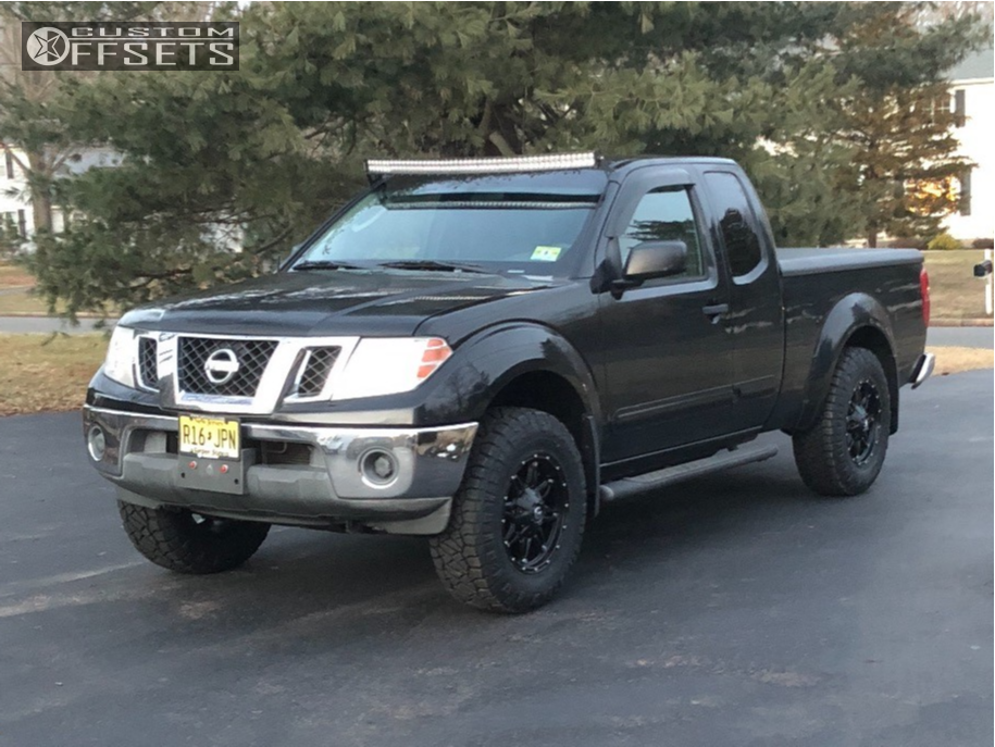 13 2009 Frontier Nissan Stock Leveling Kit Fuel Hostage Black